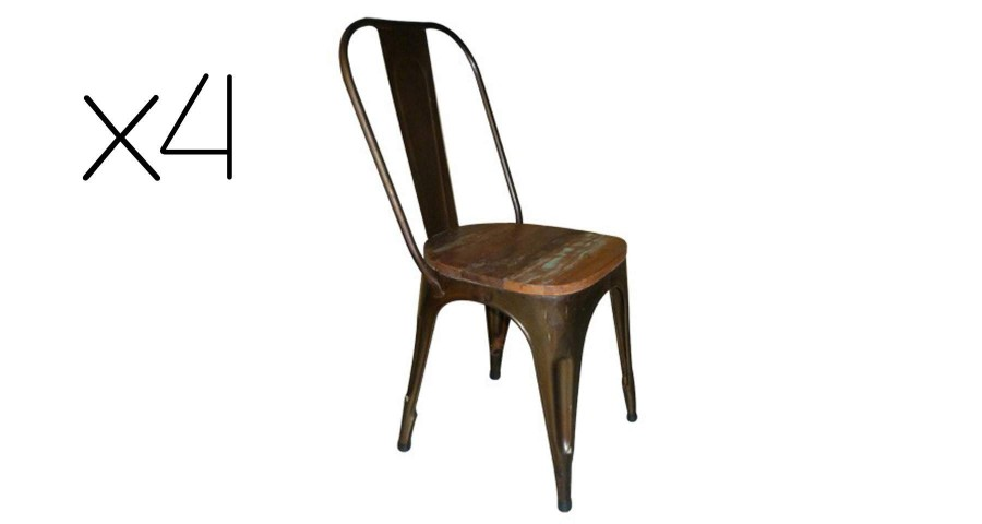 Lot 4 chaises de bistrot Tavern