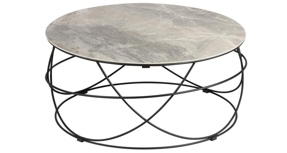 Table basse ronde 85 cm en céramique Polina