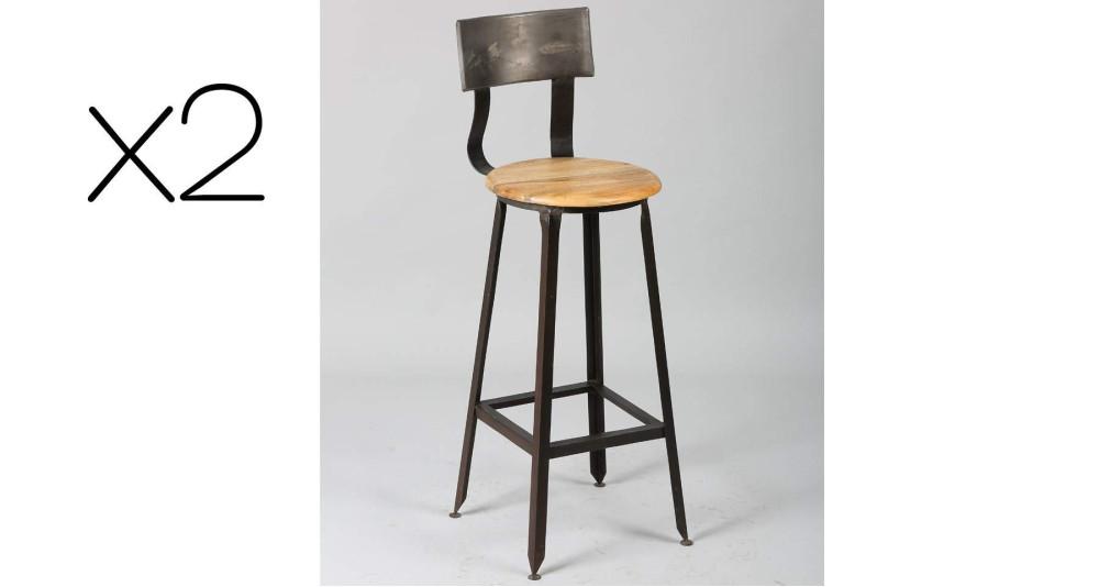 Chaise haute de bistrot Vieux Logis x 2