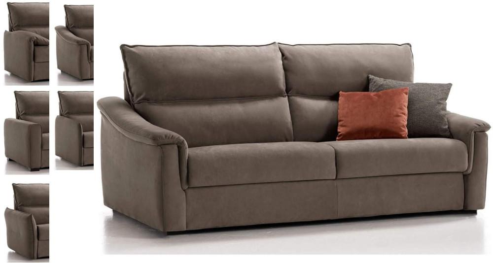 Canapé classique avec vrai lit de 18 cm Veronica