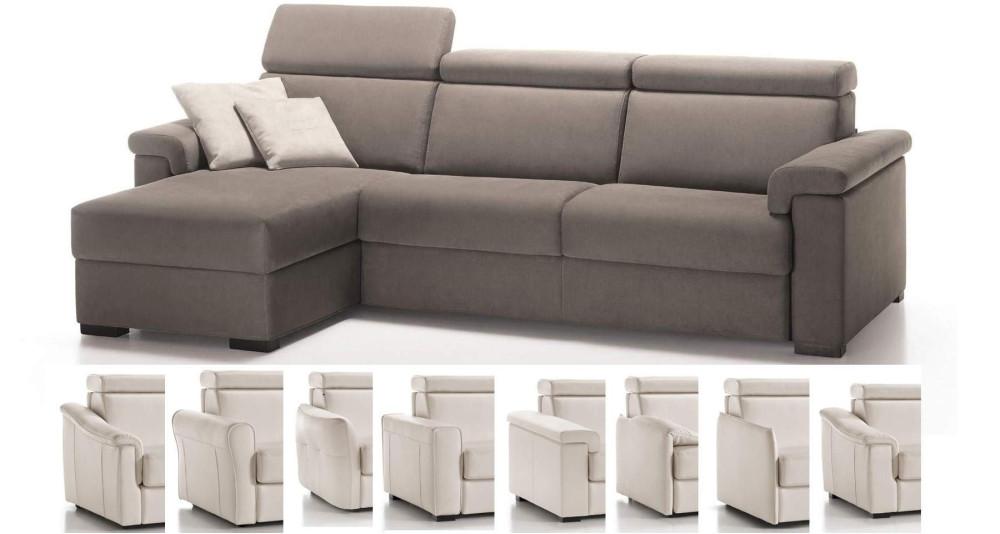 Canapé d'angle convertible quotidien confortable Polidoro