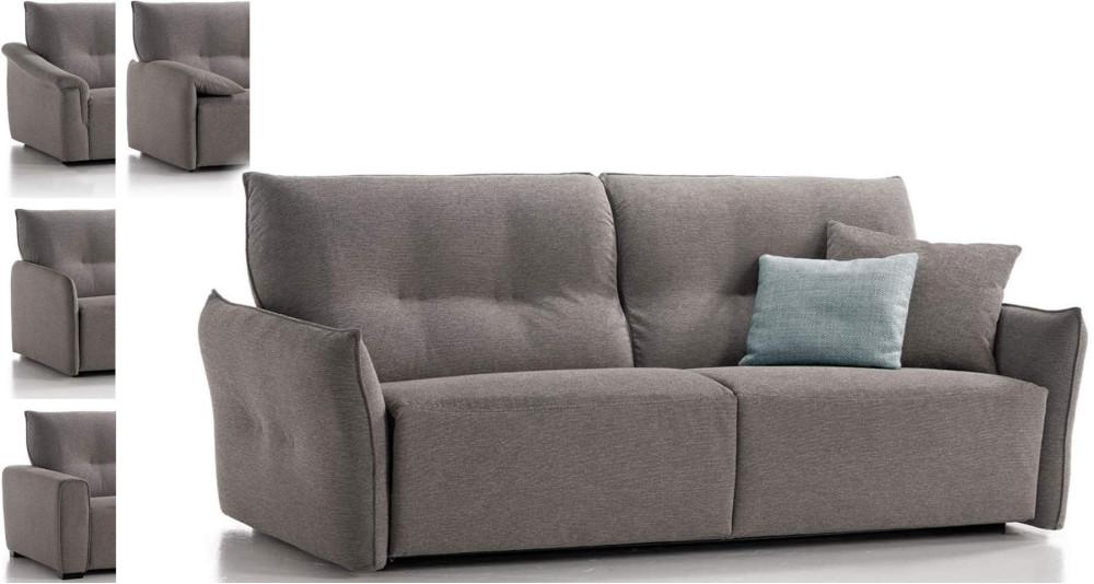 Canapé lit matelas 18 cm à ouverture express Solange