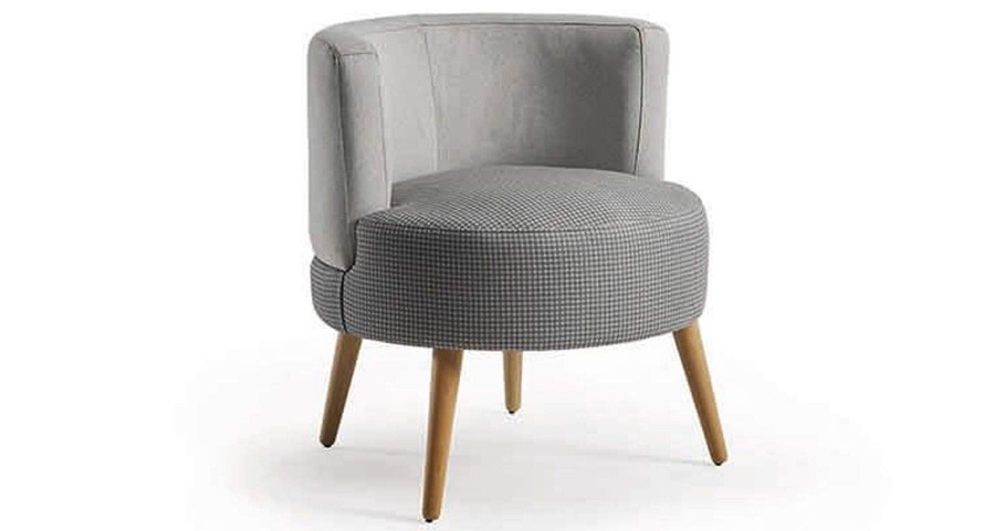 Fauteuil scandinave à assise ronde Justina