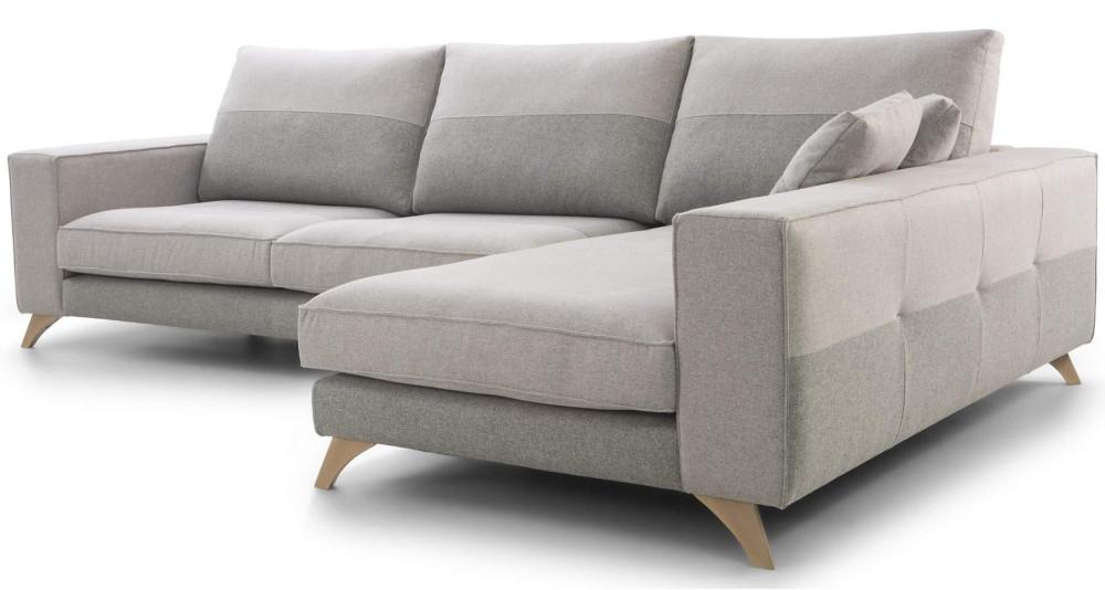 Canapé d'angle fixe à assises moelleuses Gracia
