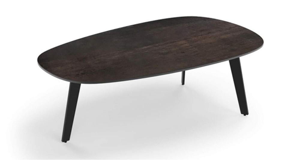 Table basse plateau ovale en céramique Luisa
