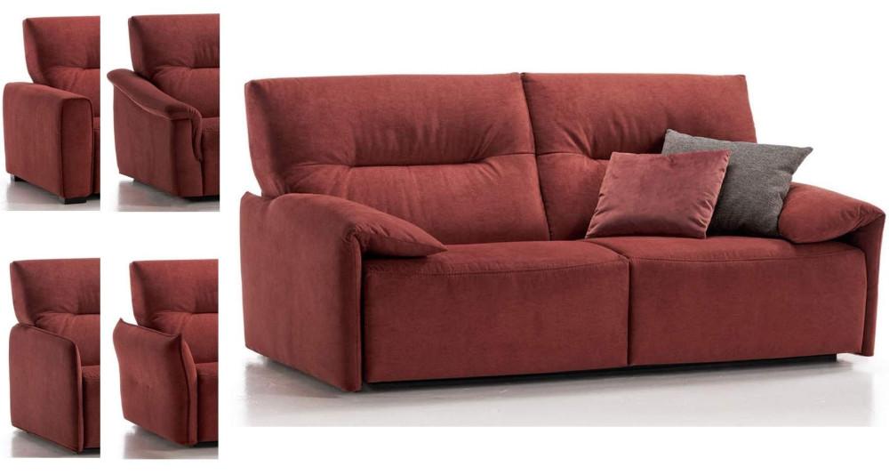 Canapé lit journalier avec matelas 18 cm Vittoria