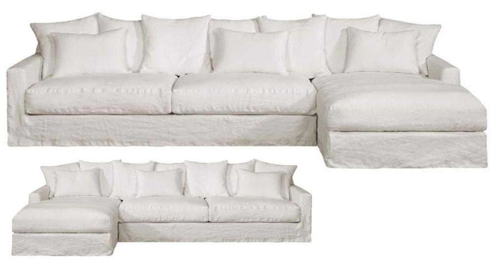Canapé d'angle lin froissé Boheme Home Spirit