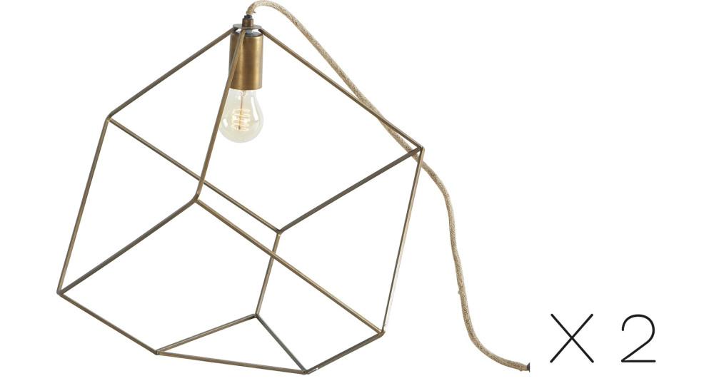 Lot de 2 Lampes à poser Tora