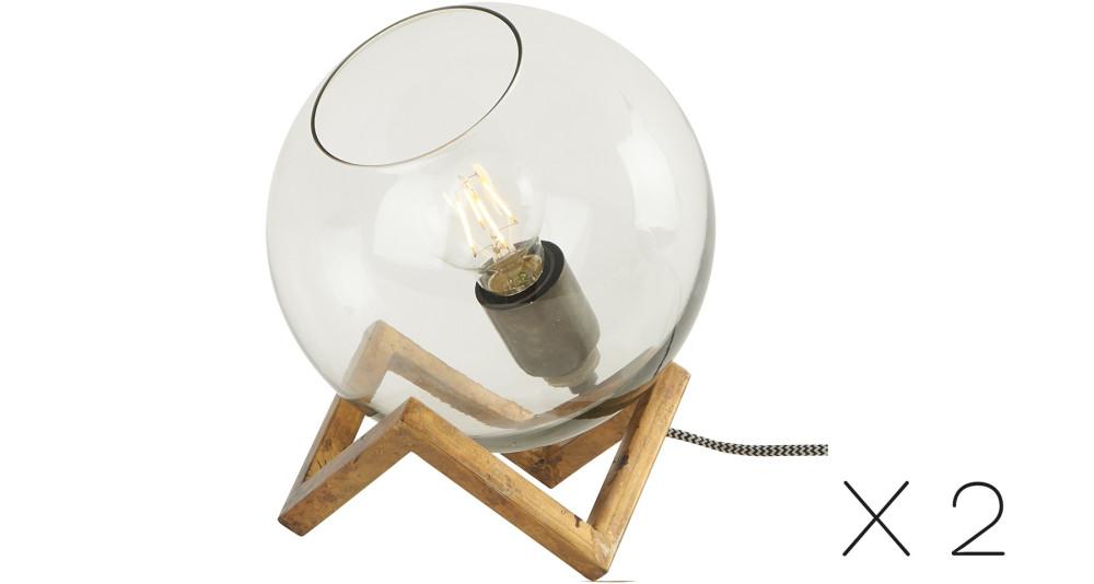 Lot de 2 Lampes Boule
