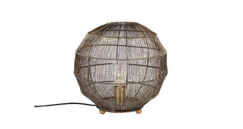Petite Lampe de Sol Boule Brass