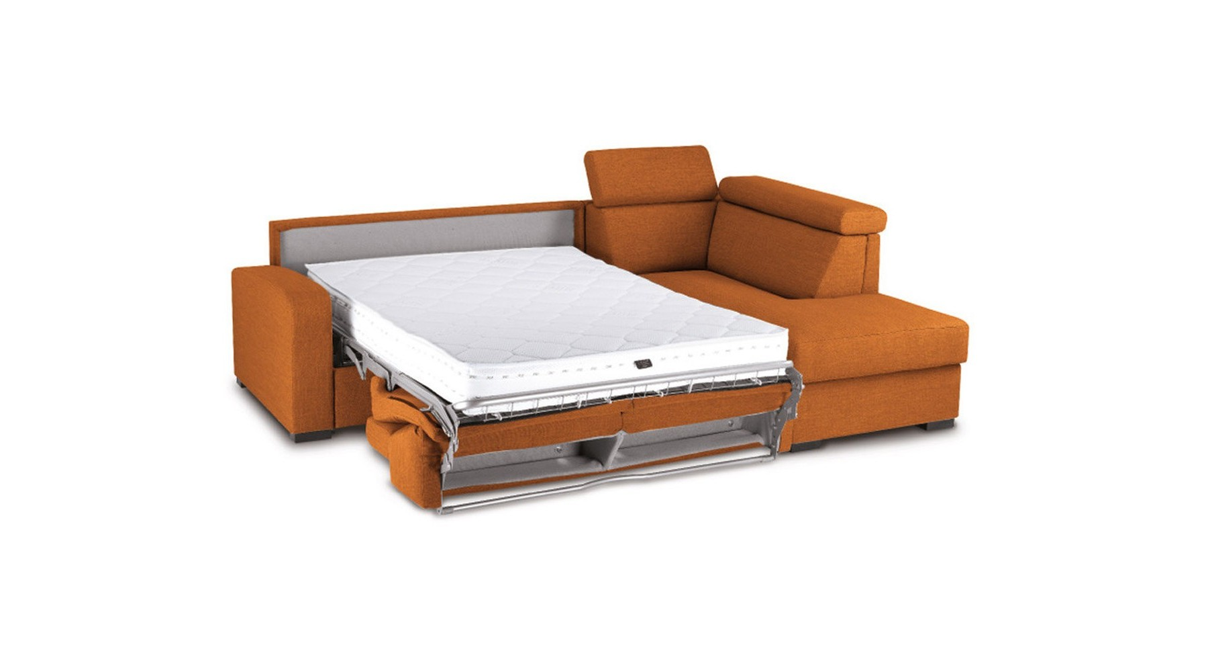 Canap d 39 angle confortable fixe ou convertible lit anita - Canape lit confortable ...