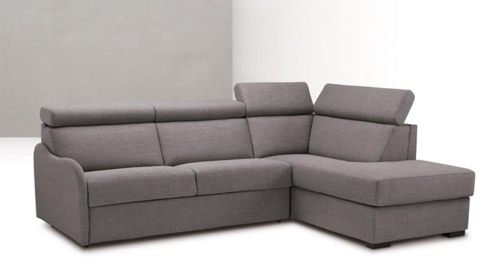 Canapé d'angle fixe ou convertible Ambra