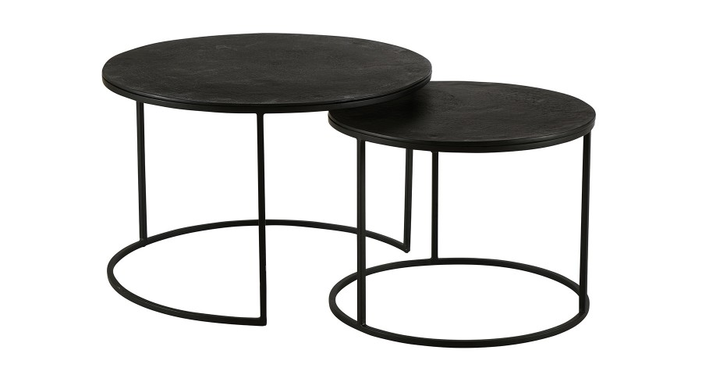 Lot de 2 Tables Basses Palma Noires