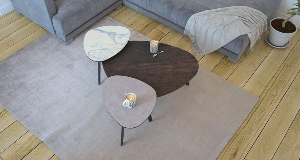 Bout de canapé en céramique Galet - 6 coloris