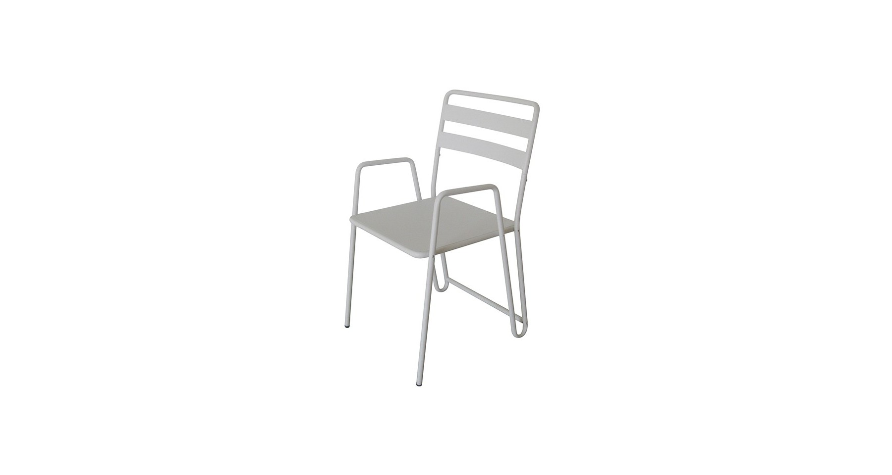 Lot 2 Chaises Metal Blanc Sharon