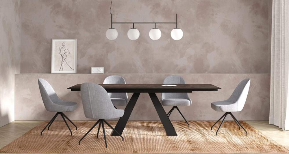 Table extensible 150/230 x 100 cm en céramique Illusion