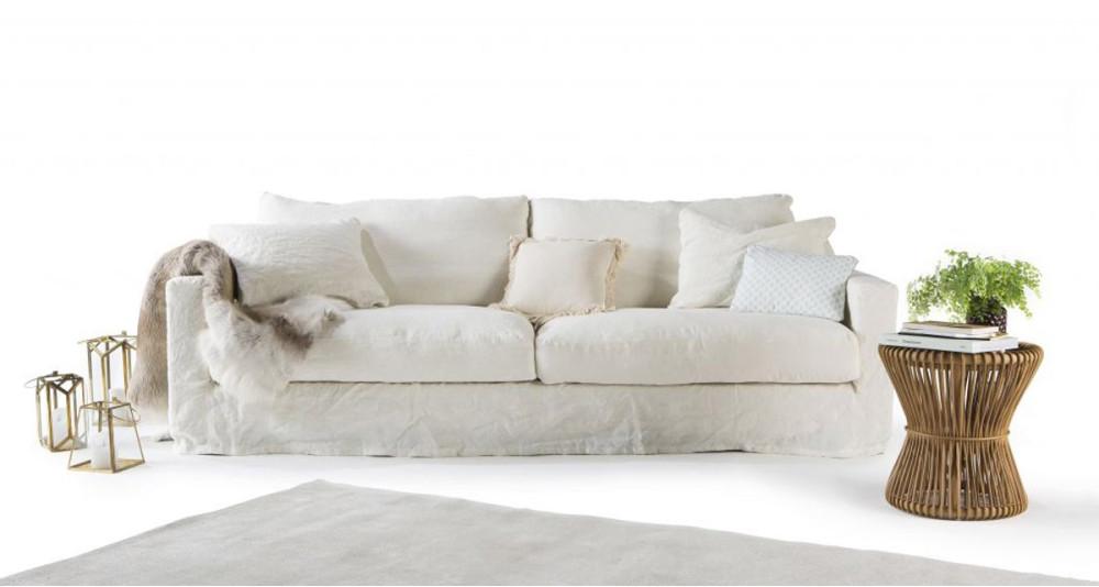 Canapé lit lin froissé Saint Malo