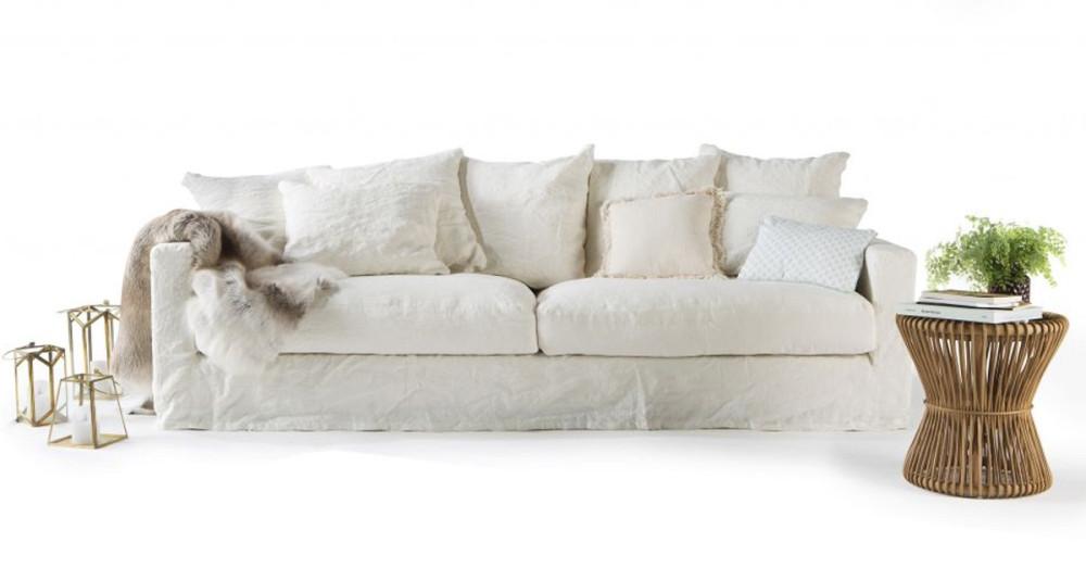Canapé en lin froissé Boheme Home Spirit