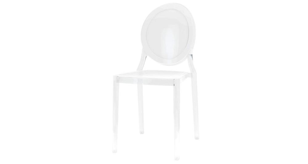 Chaise classique médaillon en polycarbonate Marquise - 2 coloris