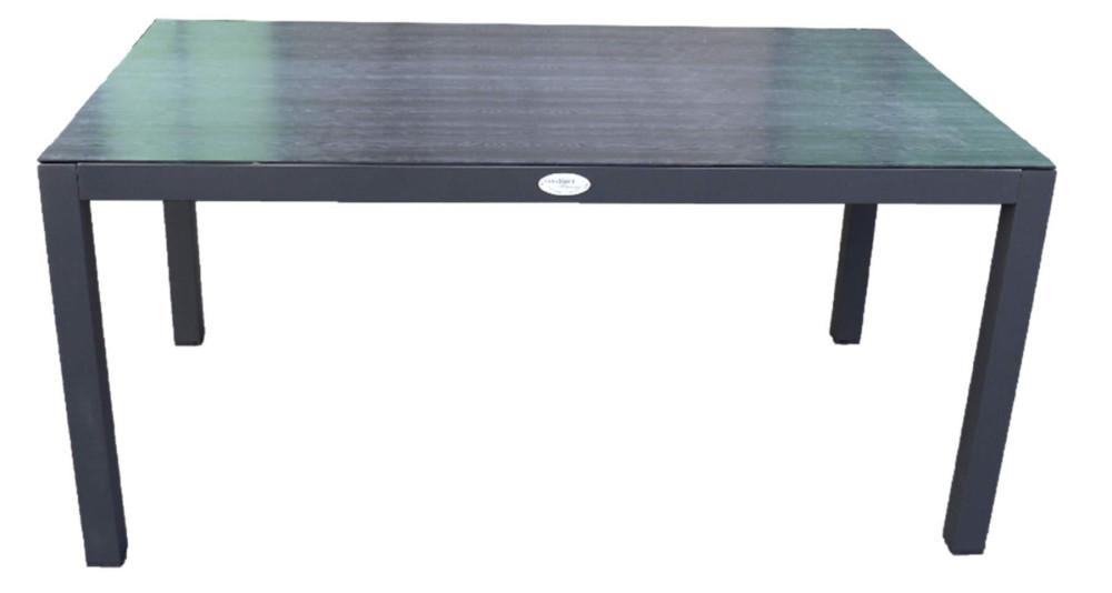 Table 160 x 95 cm plateau aspect granite Soa