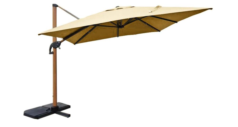 Grand parasol déporté et rotatif 3 x 3, 4 x 3 m Sugiton