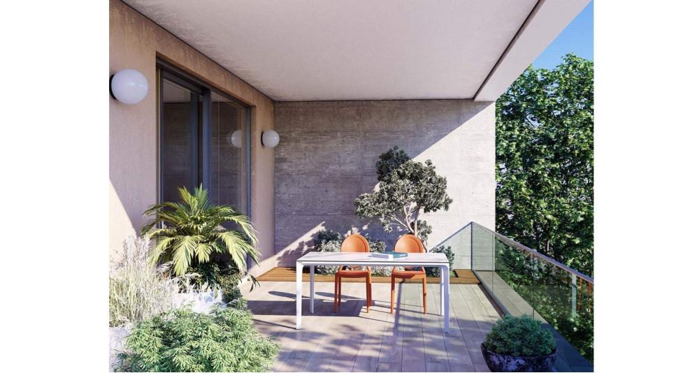 Table de jardin en céramique marbre Atlantico