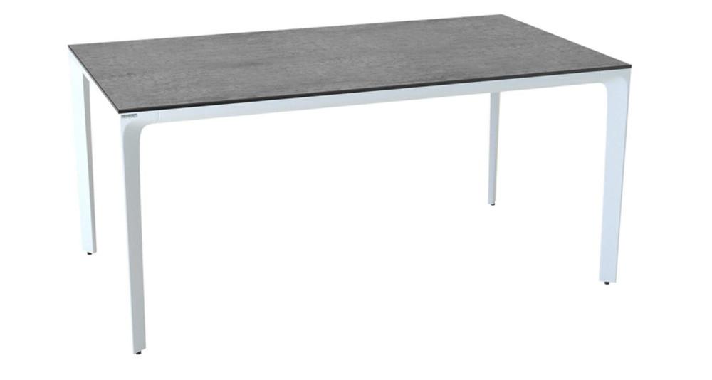 Table de terrasse en céramique argent Atlantico