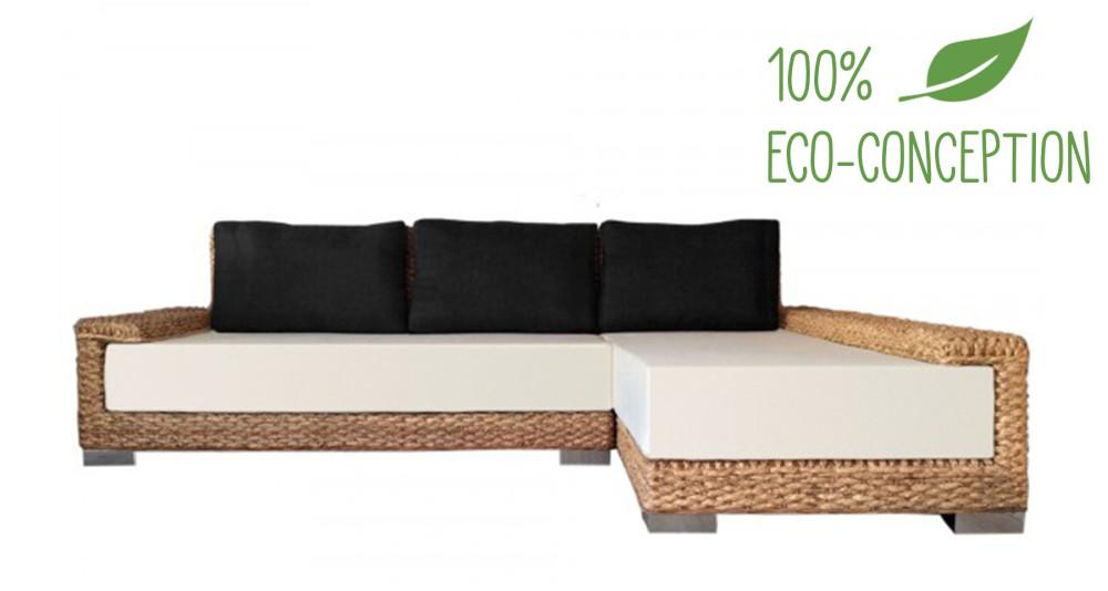 Canapé d'angle Côme 100% écologique