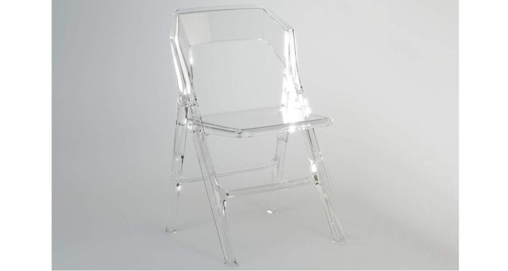 Lot 2 chaises pliantes en polycarbonate Ornella - 2 coloris