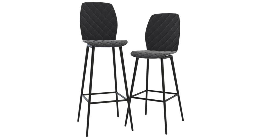 Lot 2 chaises de bar Tournai - 2 couleurs