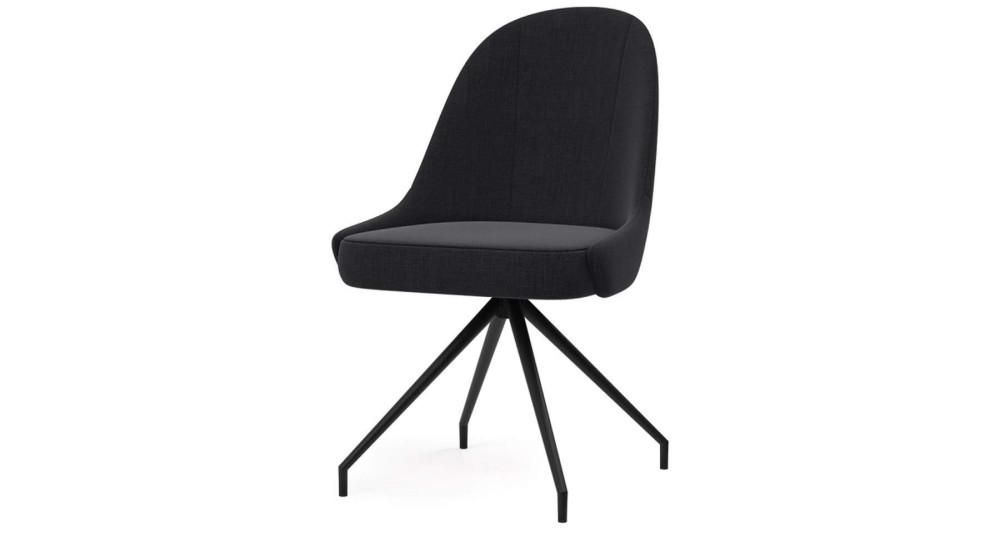 Lot 2 chaises fixes/pivotantes contemporaines Azzurra