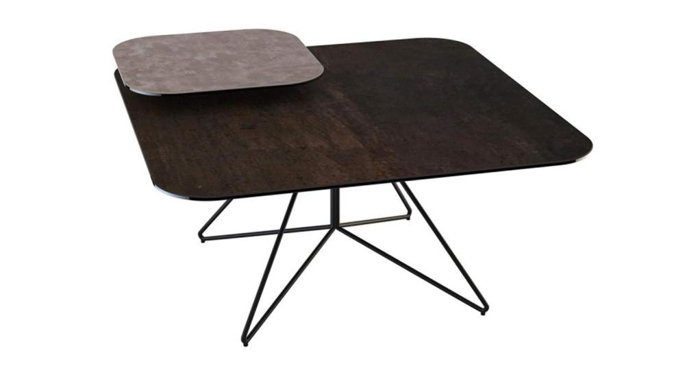Table basse céramique avec tablette Etoile