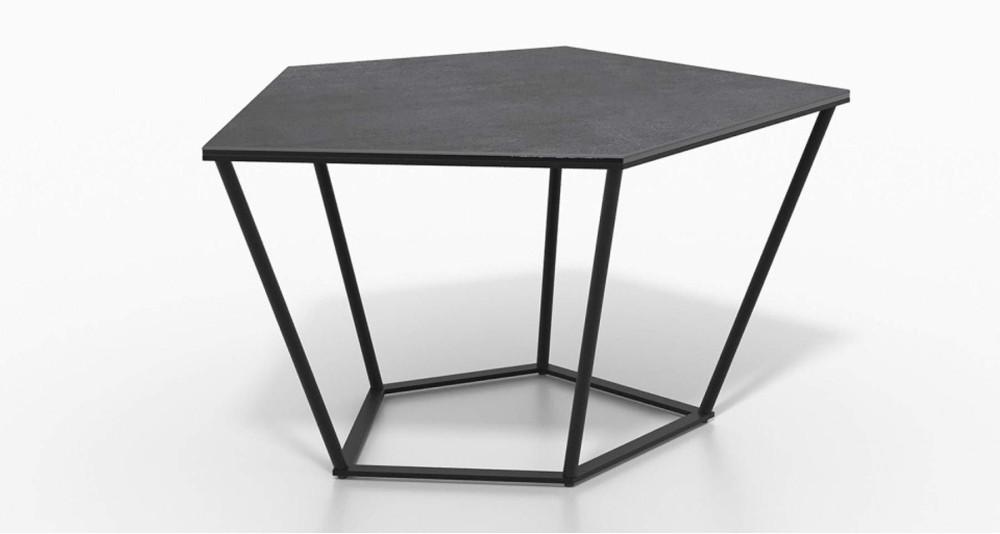 Table basse hexagonale en céramique Fabiola