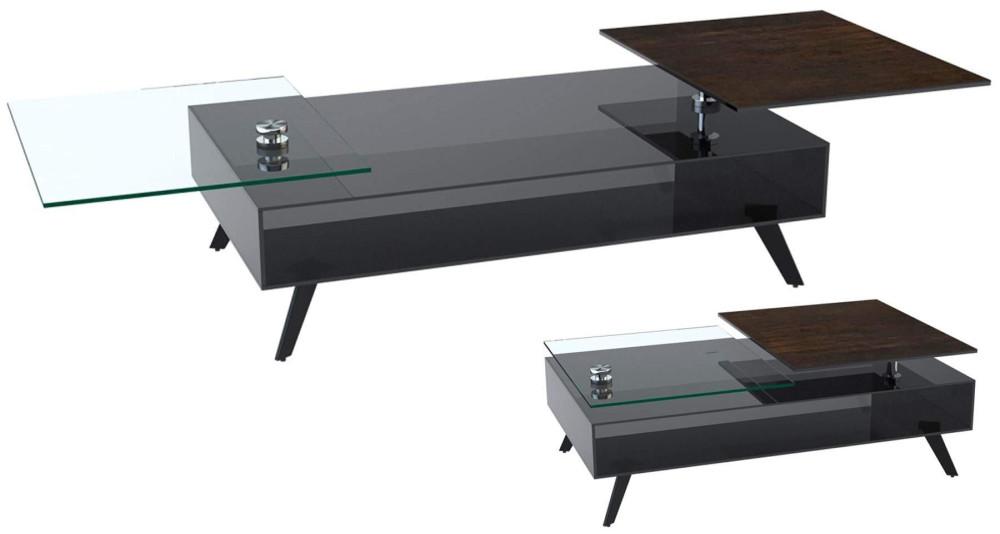 Table basse design avec plateaux tournants Deering