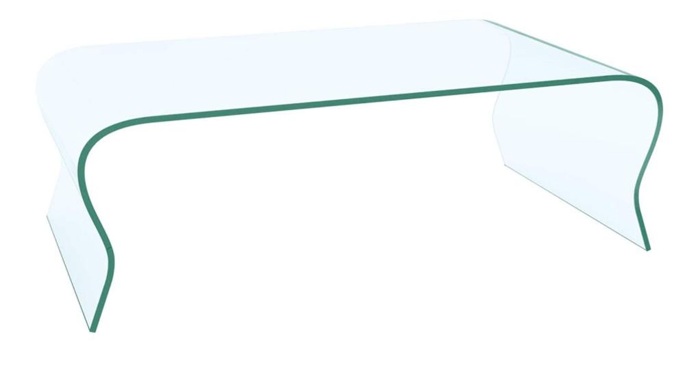 Table basse 120 cm en verre clair Romane