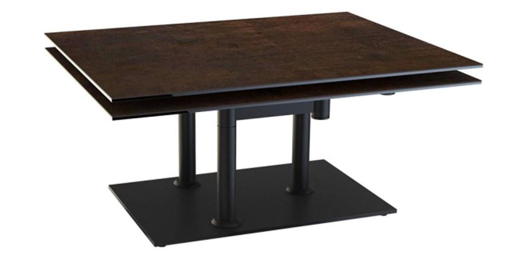 Table basse pivotante à double plateau céramique Mathilde