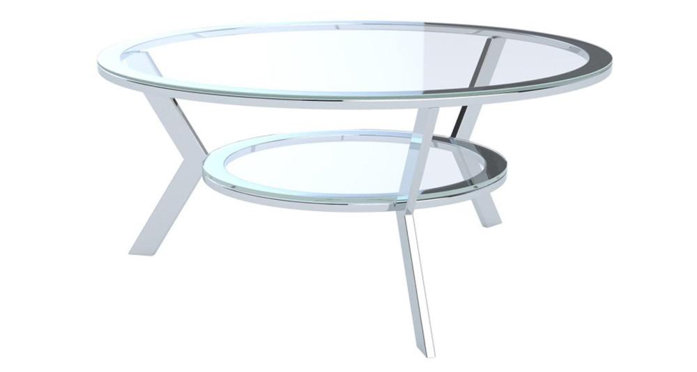 Table basse ronde plateau céramique marbre Yorkton