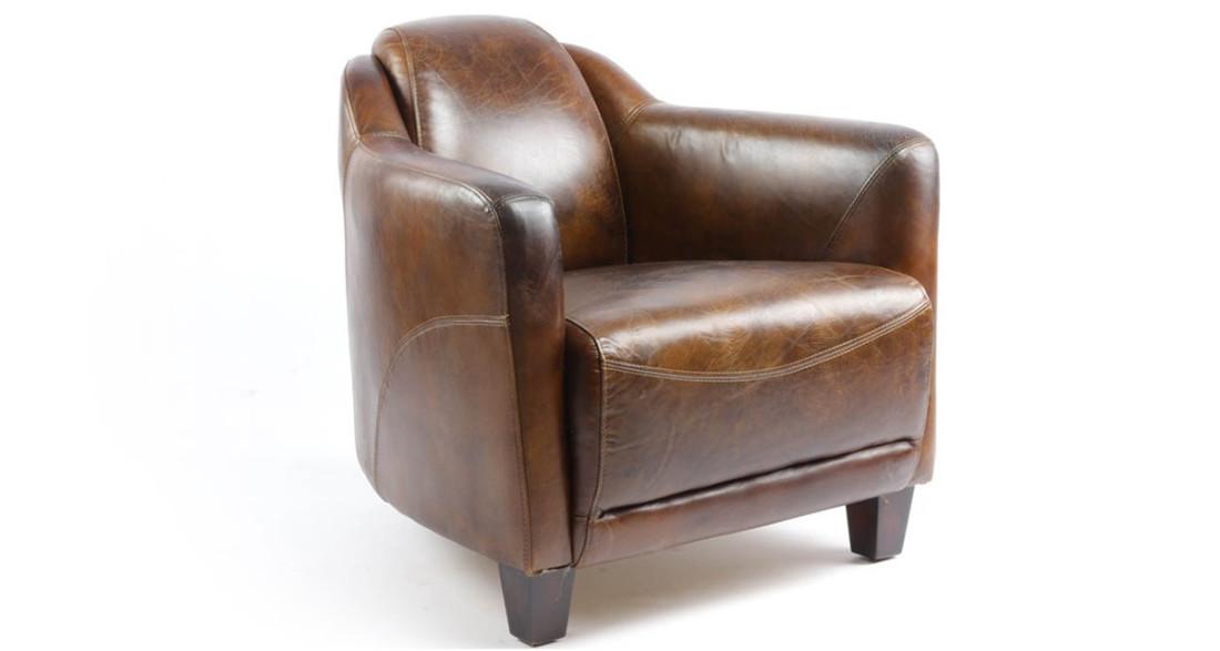Fauteuil Club A Restaurer fauteuil club en cuir pleine fleur cigare indiana