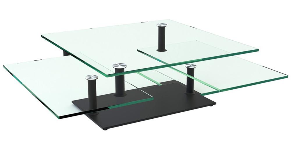 Table basse contemporaine à 3 plateaux Oratorio