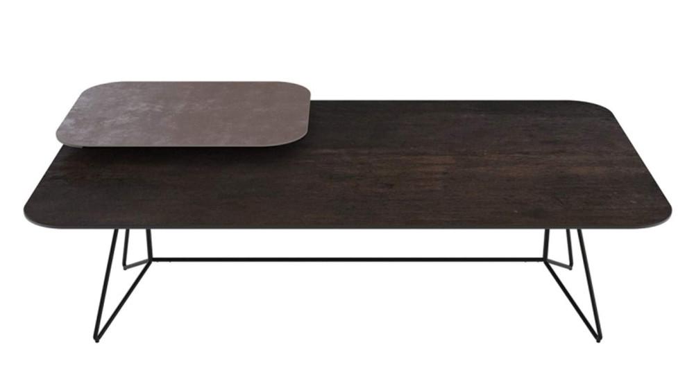 Table basse céramique à plateau pivotant Honora