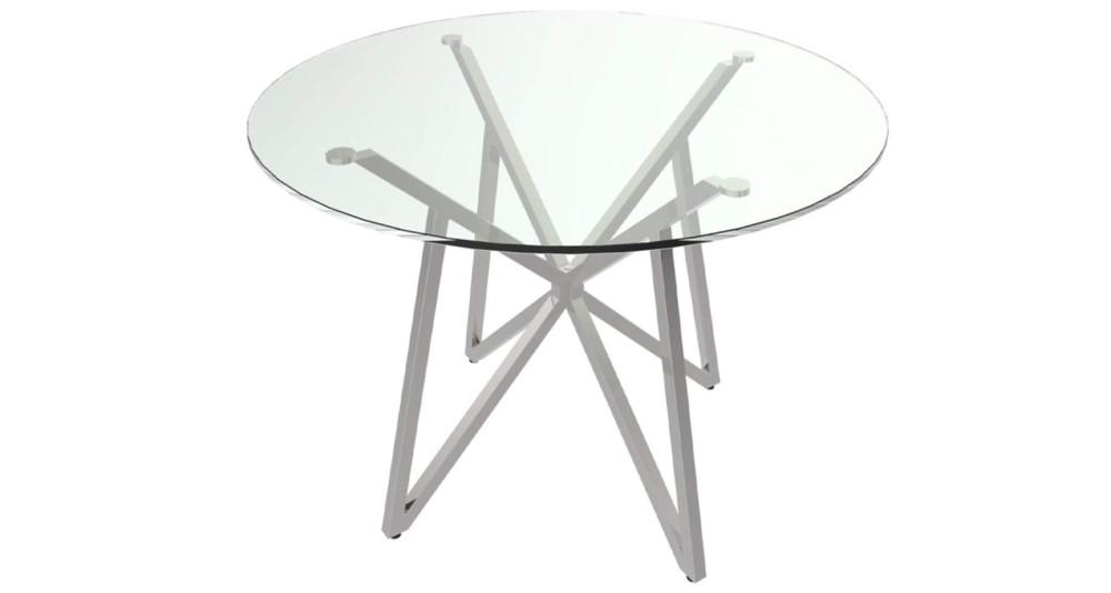 Table repas ronde en verre Oceanne - 4 coloris