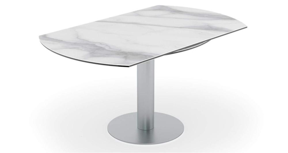 Table repas ronde à rallonges rétractables Onyx