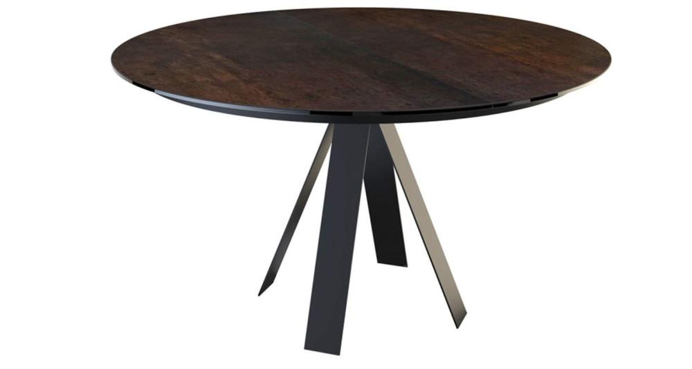Table ronde extensible en céramique Coulemelle