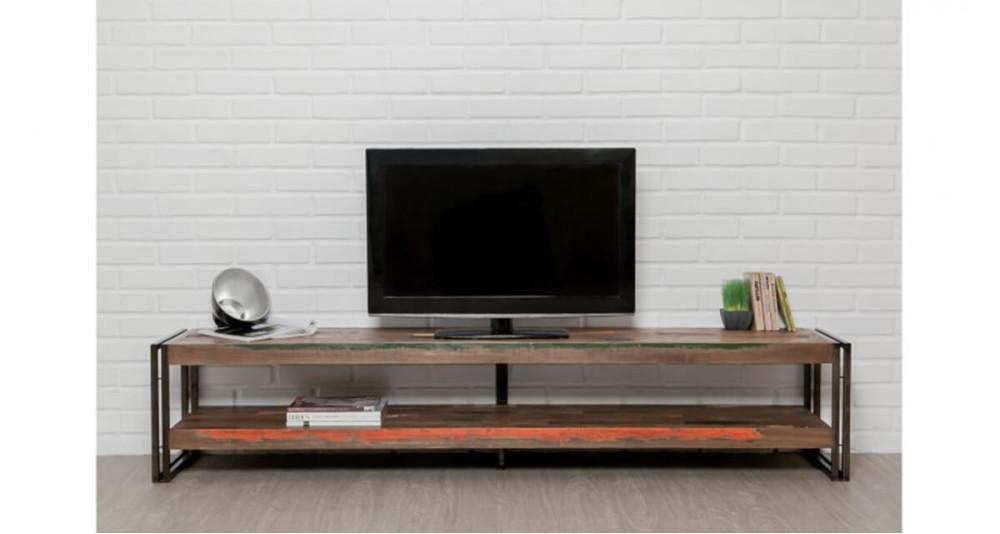 Grand meuble TV en teck recyclé Colorada