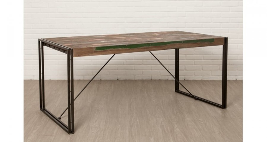 Table 180 cm en teck recyclé Colorada