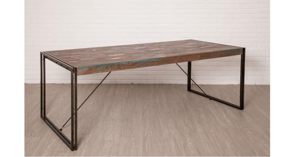 Table 220 cm en teck recyclé Colorada
