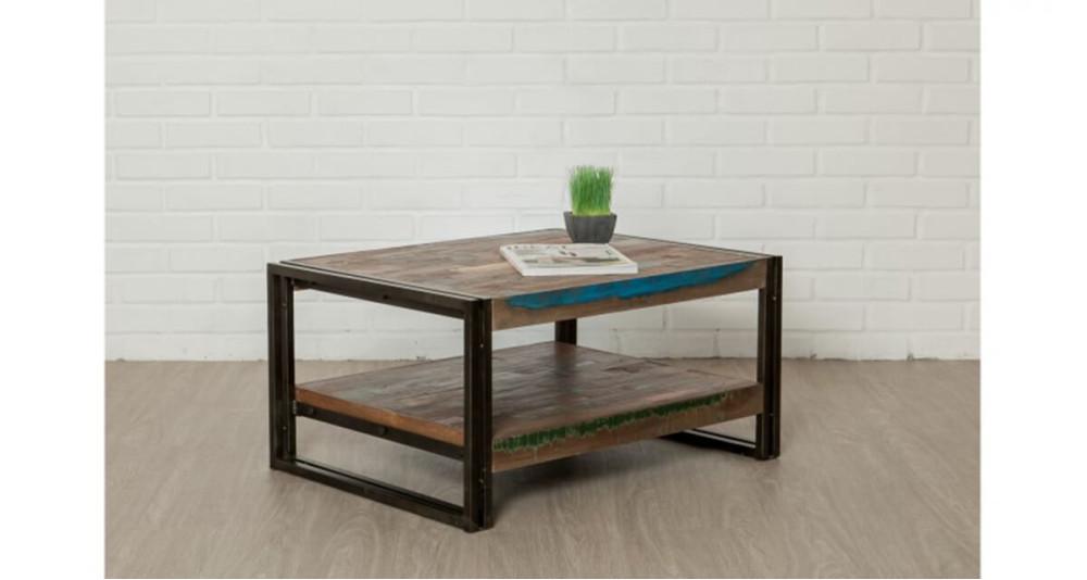 Petite table basse en bois recyclé Colorada