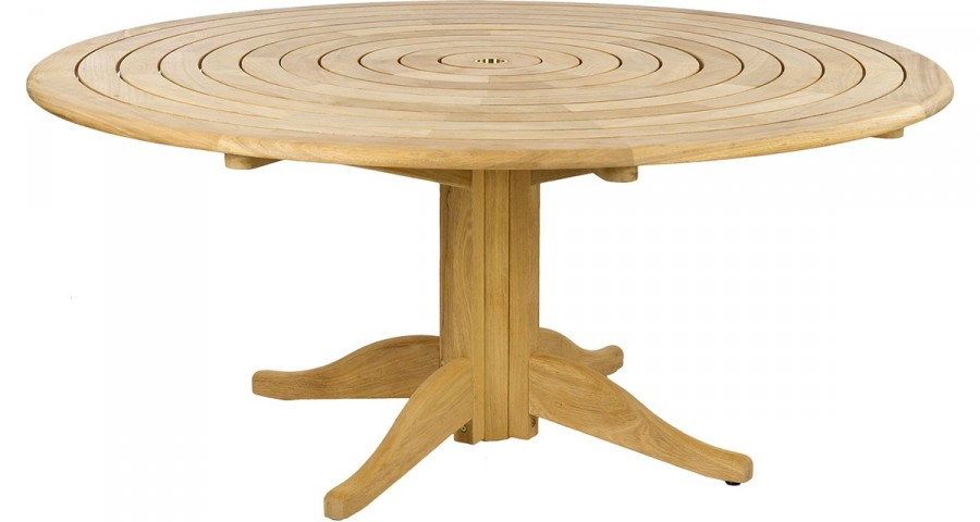 grande table ronde de jardin en ch ne massif bengal. Black Bedroom Furniture Sets. Home Design Ideas