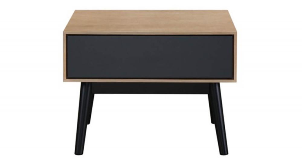 Table basse d\'appoint, de chevet en bois noir et naturel Kuopio