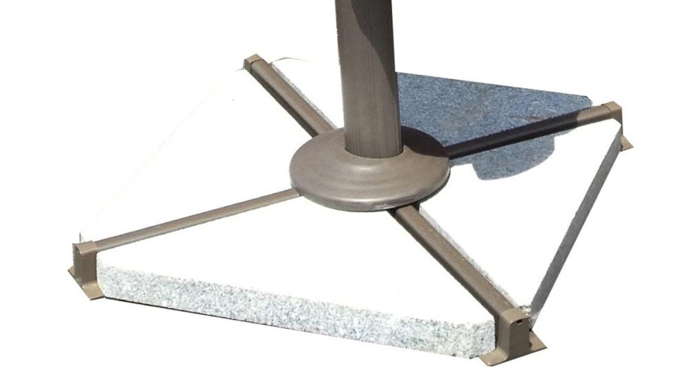 Dalles triangulaires en granit pour parasol